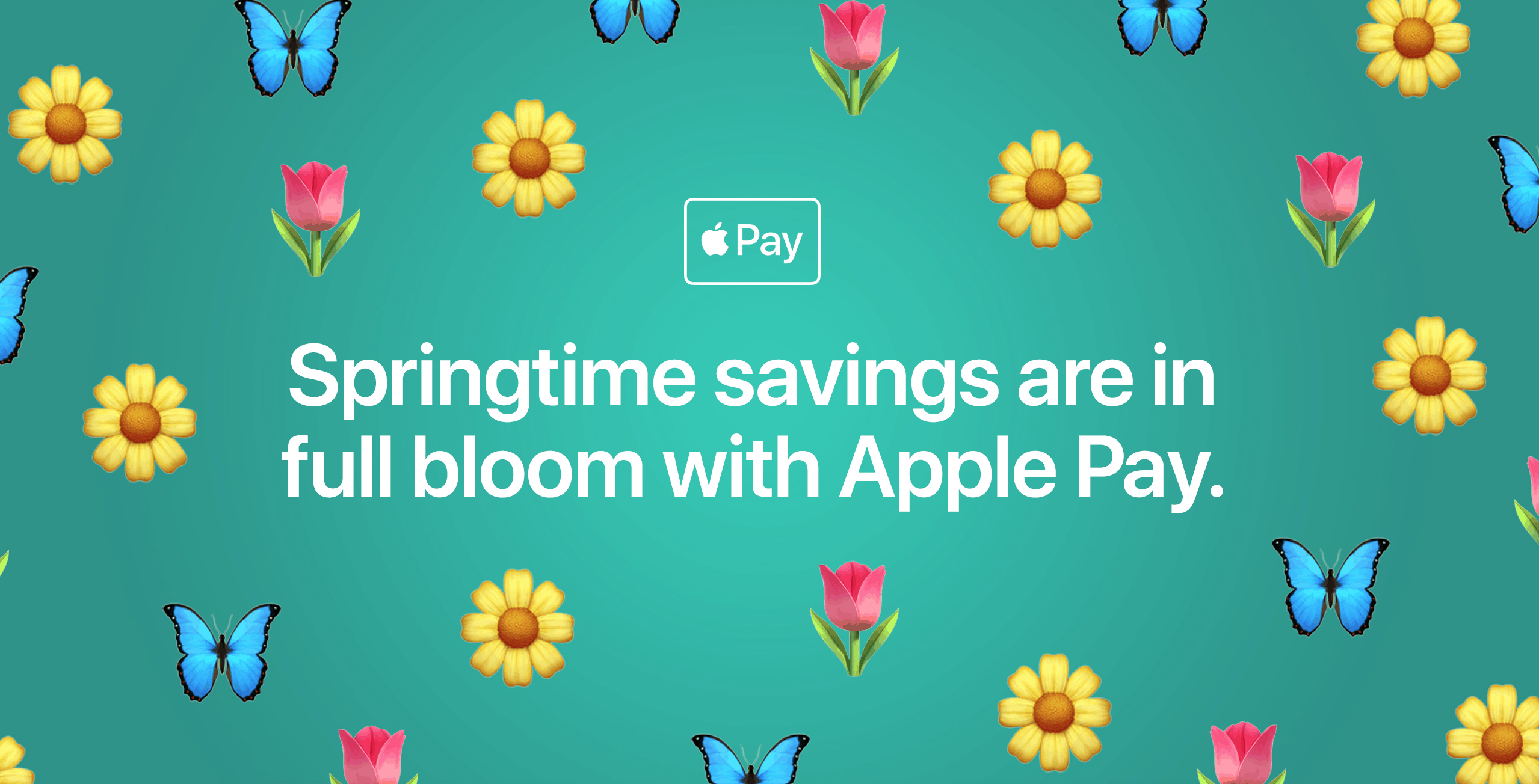Spring-Themed Apple Pay