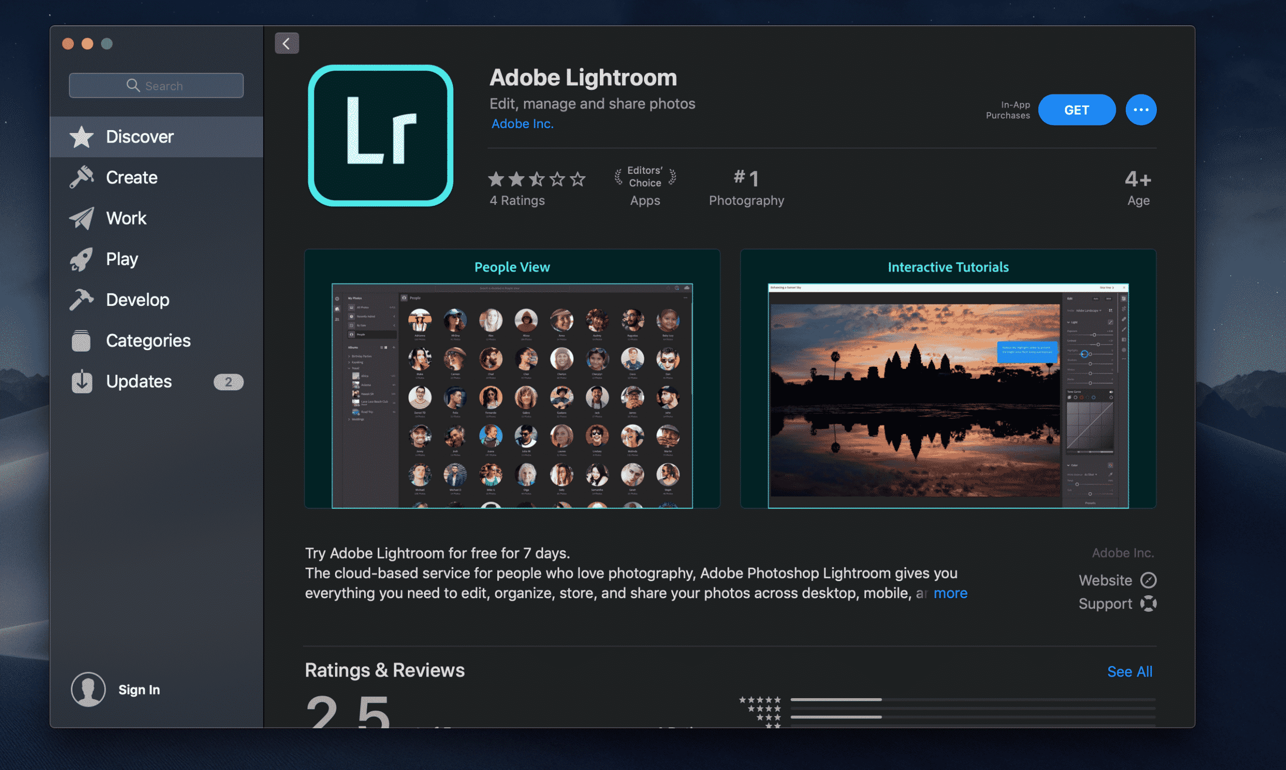 Adobe Lightroom Mac