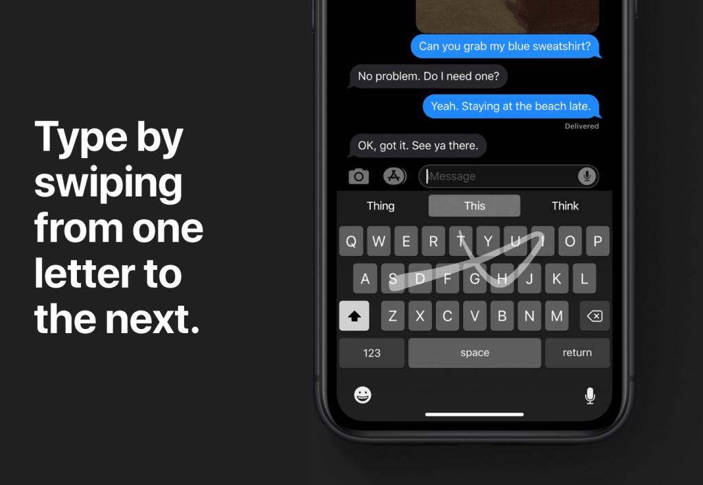 QuickPath Swipe Keyboard in iOS 13