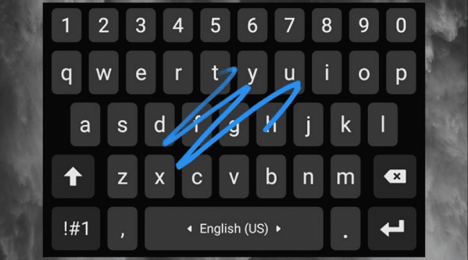 Turn on the Swipe Input on your Keyboard