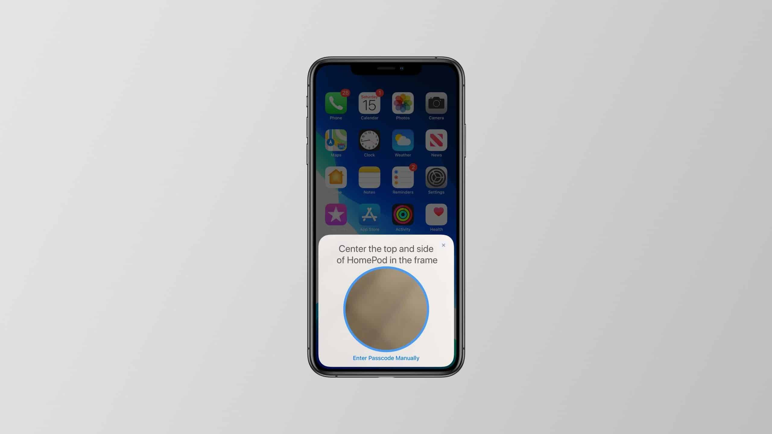 iOS 13 LED Pattern HomePod
