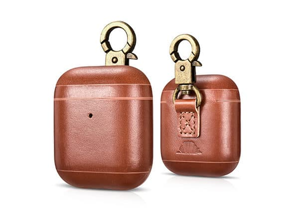 Buy the CarryOn Handmade Leather AirPod Case with Carabiner for $24.99