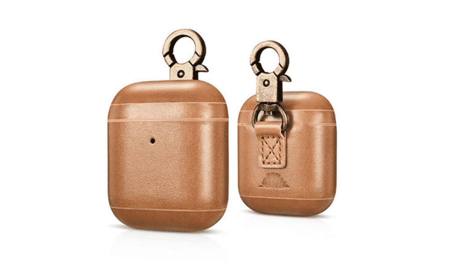 CarryOn Handmade Leather AirPod Case with Carabiner