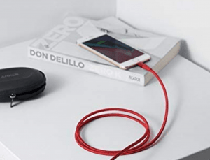 Lightning charging cable for the iPhone