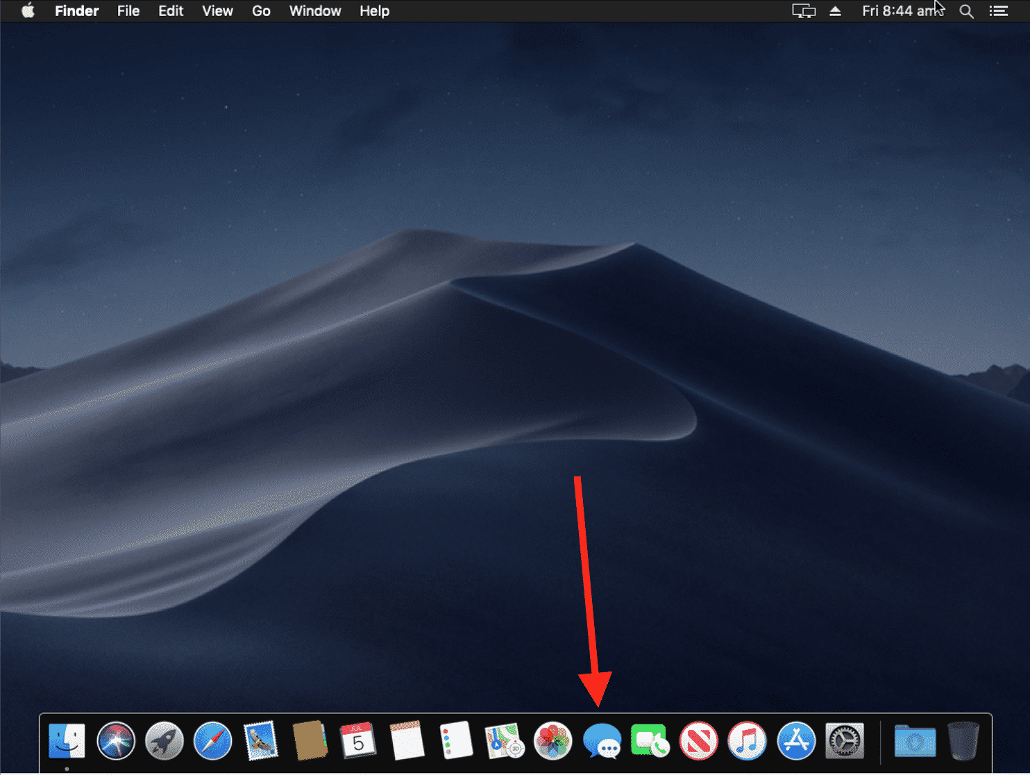 Messages icon on macOS Mojave to get iMessage on PC