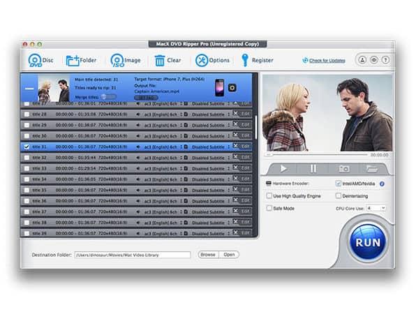 Screenshot of MacX DVD Ripper Pro Lifetime License