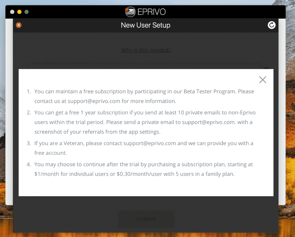 Using EPRIVO
