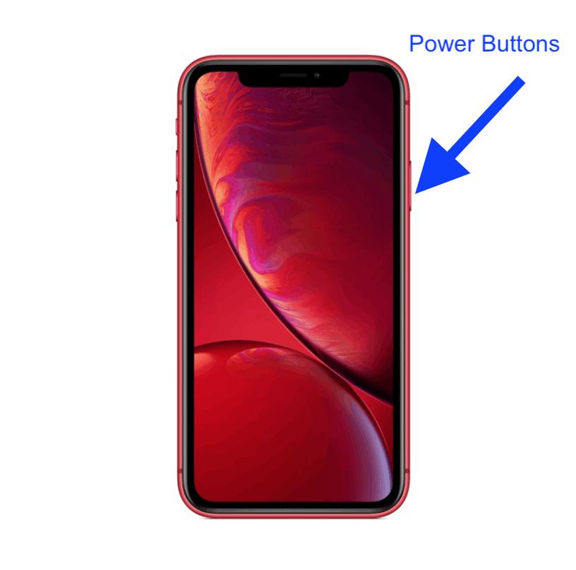 iPhone XR power button