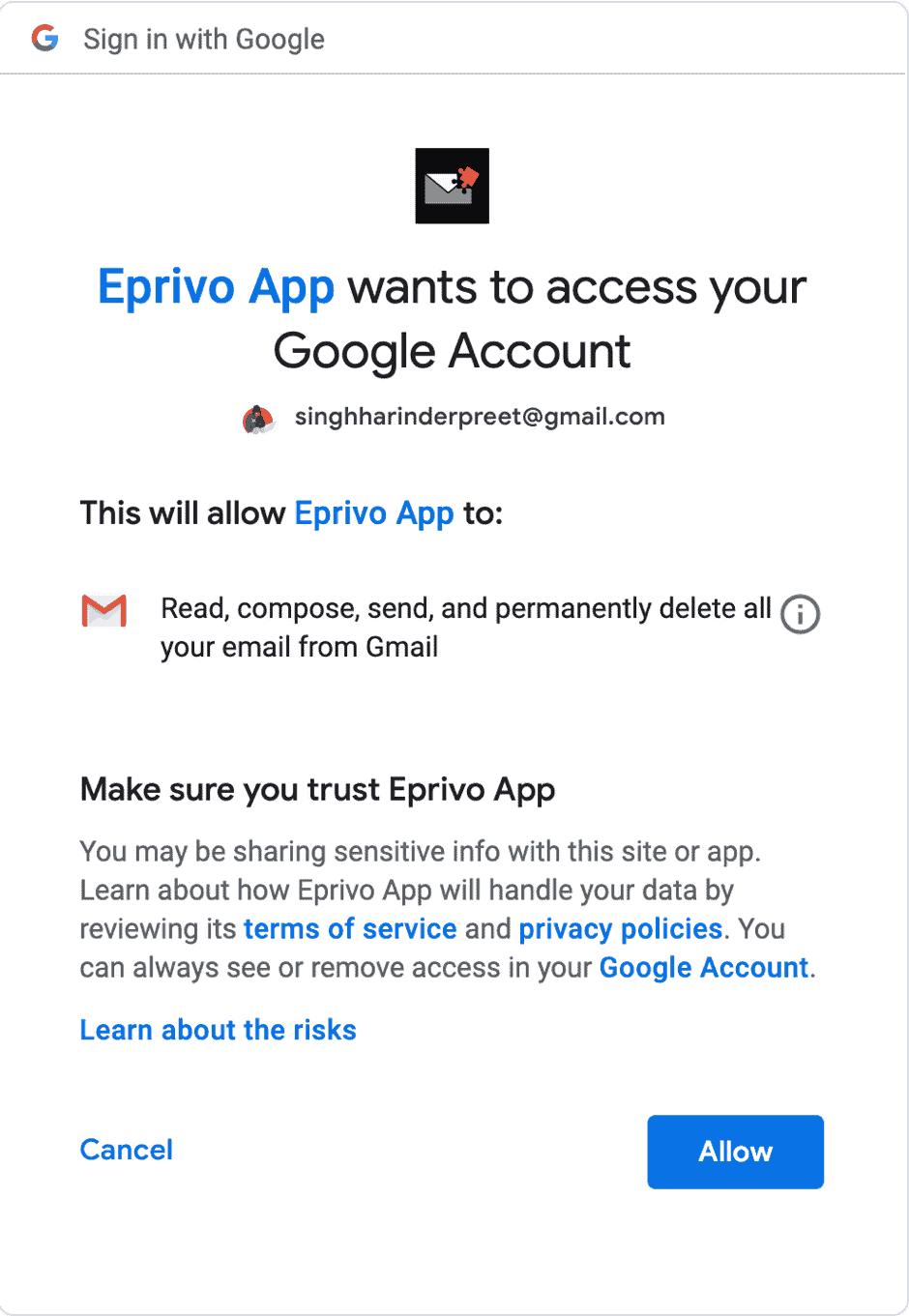 secure using EPRIVO
