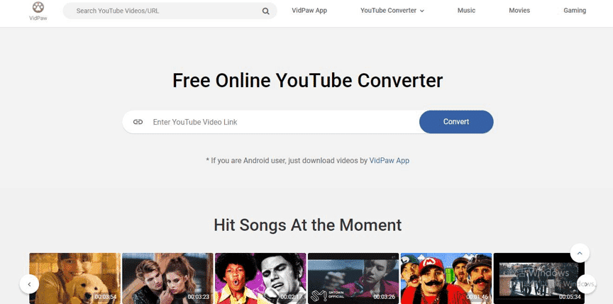 VidPaw YouTube Converter