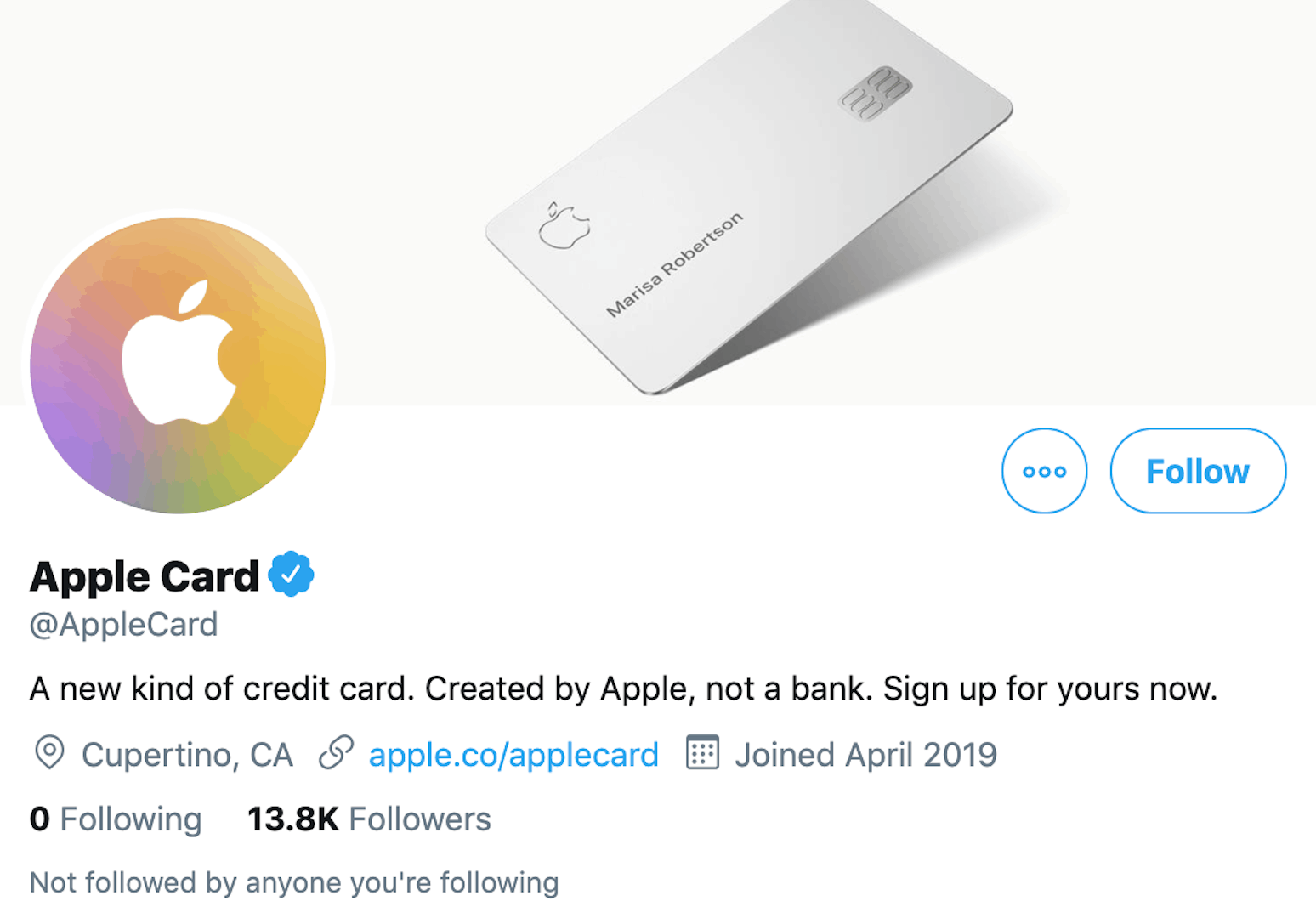 Apple Card Twitter