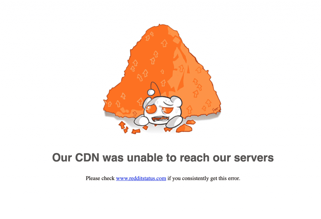 Our CDN was unable to reach our servers