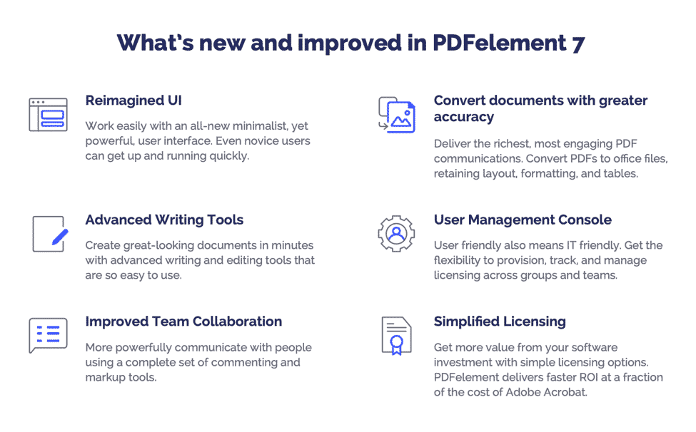 Overview of PDFelement 7