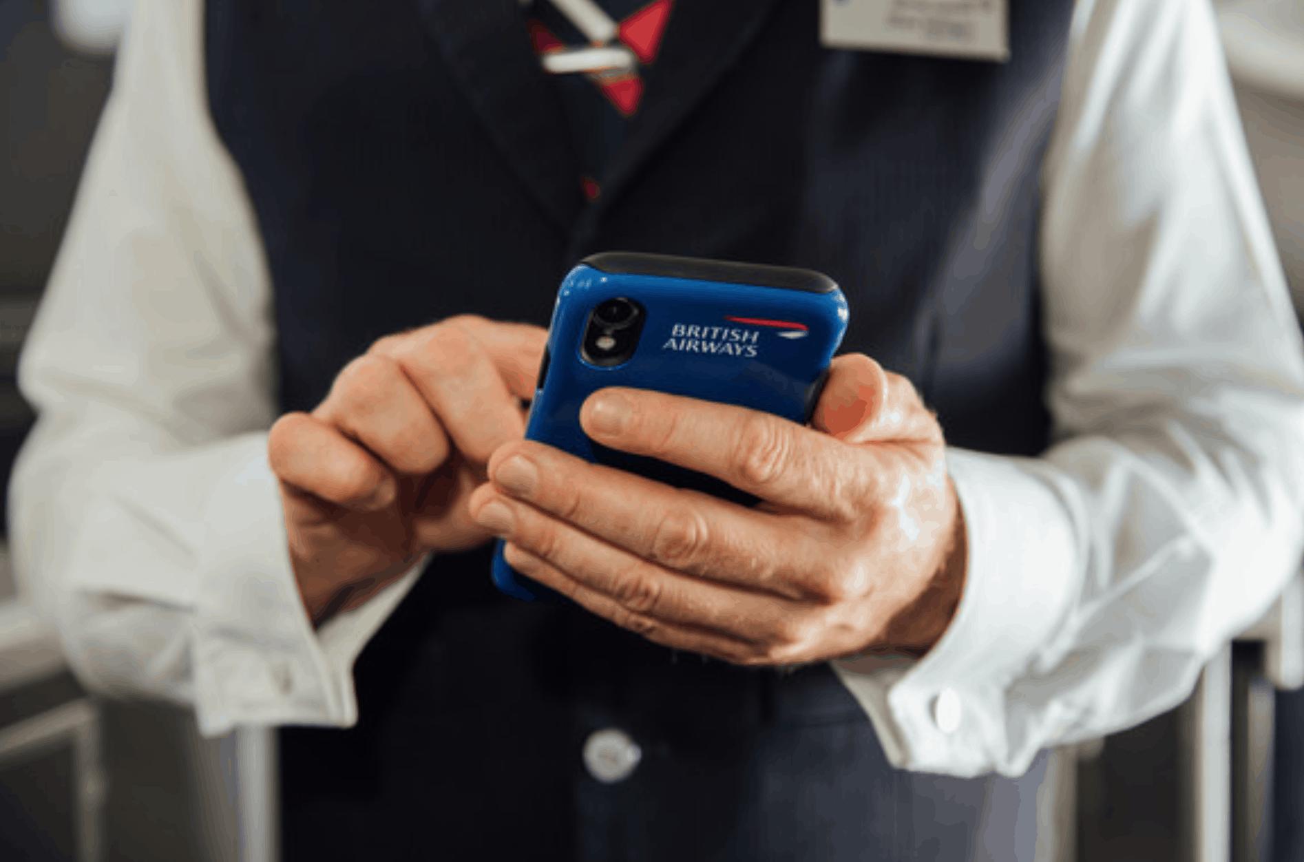 iPhone XR with British Airways