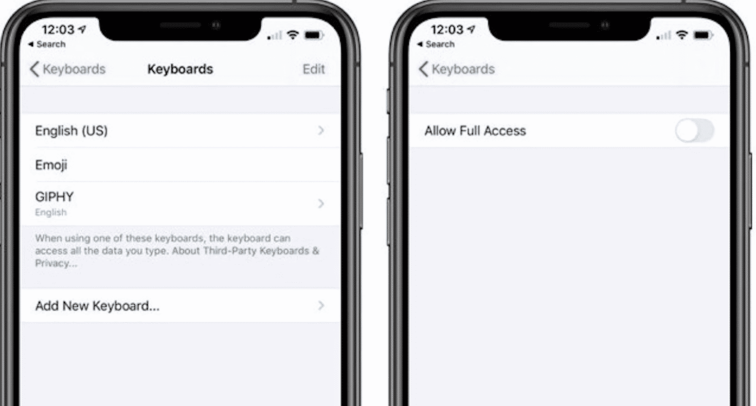 A Bug in iOS 13 Gives Third Party Keyboards Full Access to the iPhone