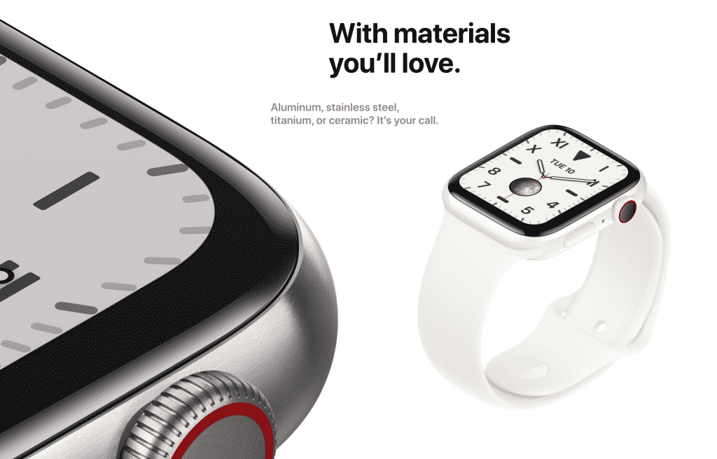 Apple Watch Series 5 material