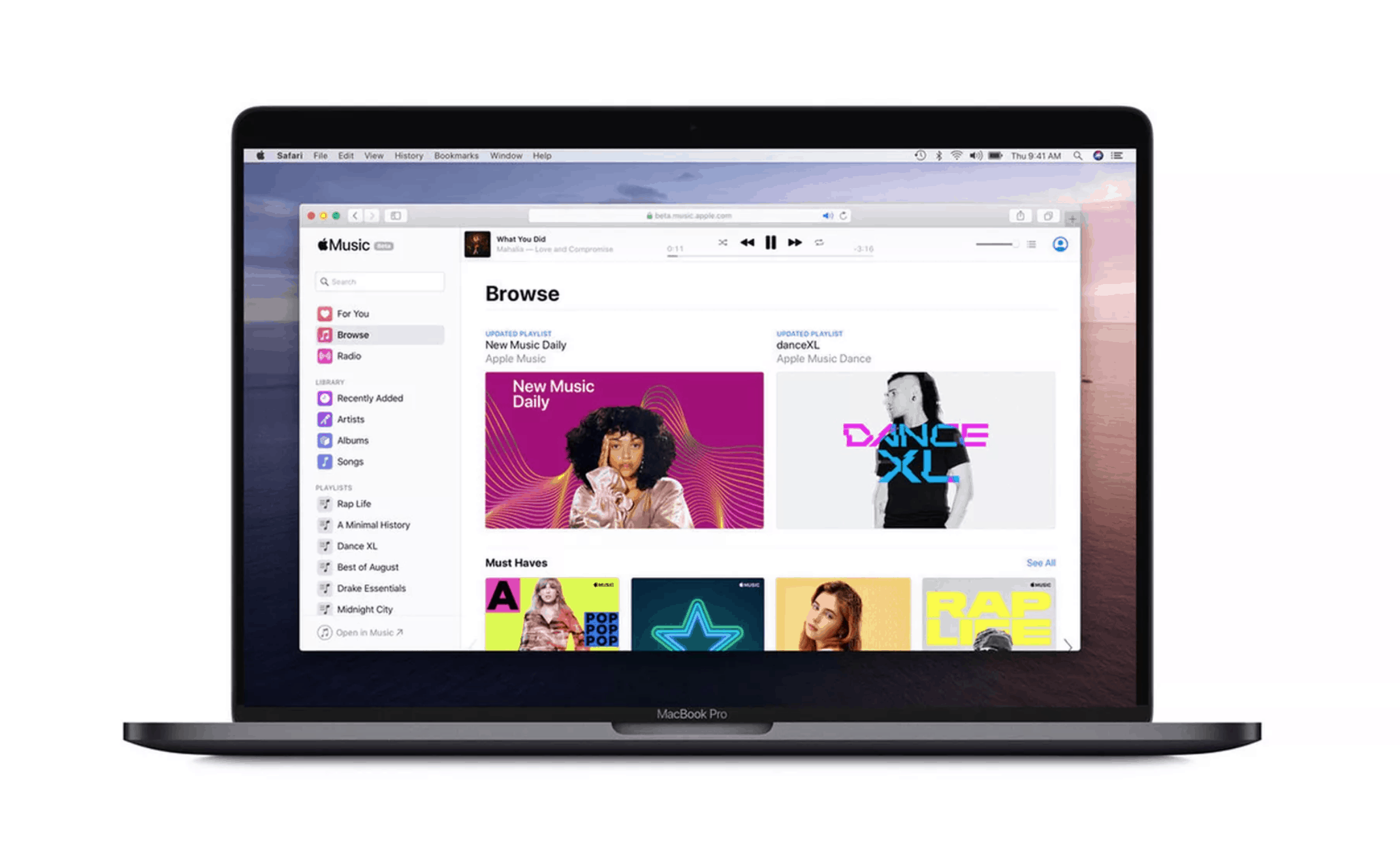 Apple's New Browser Apple Music Launched