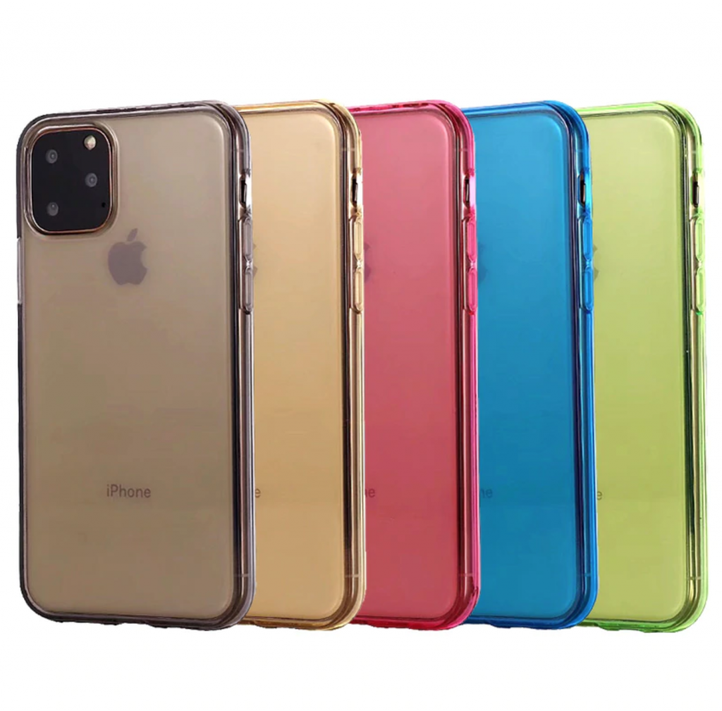 Comanke Transparent Candy Color Silicone Cases for iPhone 11