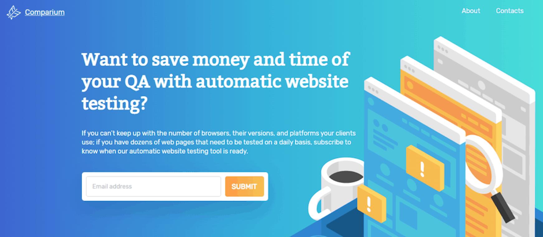 Comparium: Automatic Website Testing Tool