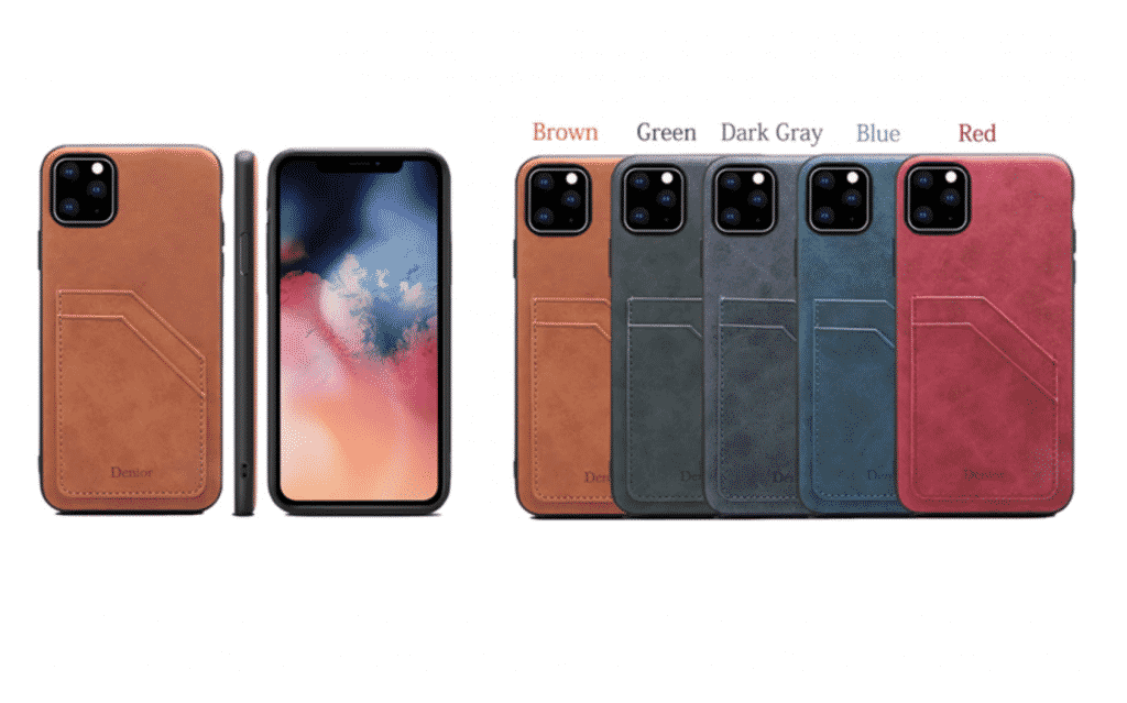 Double Card Leather Case for iPhone 11