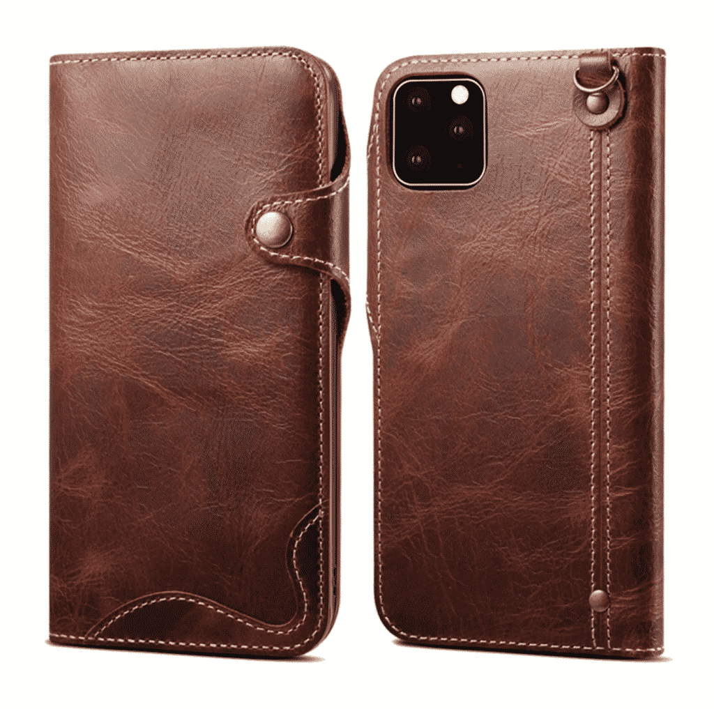 Durable Genuine Leather Wallet Case for iPhone 11, iPhone 11 Pro and iPhone 11 Pro Max