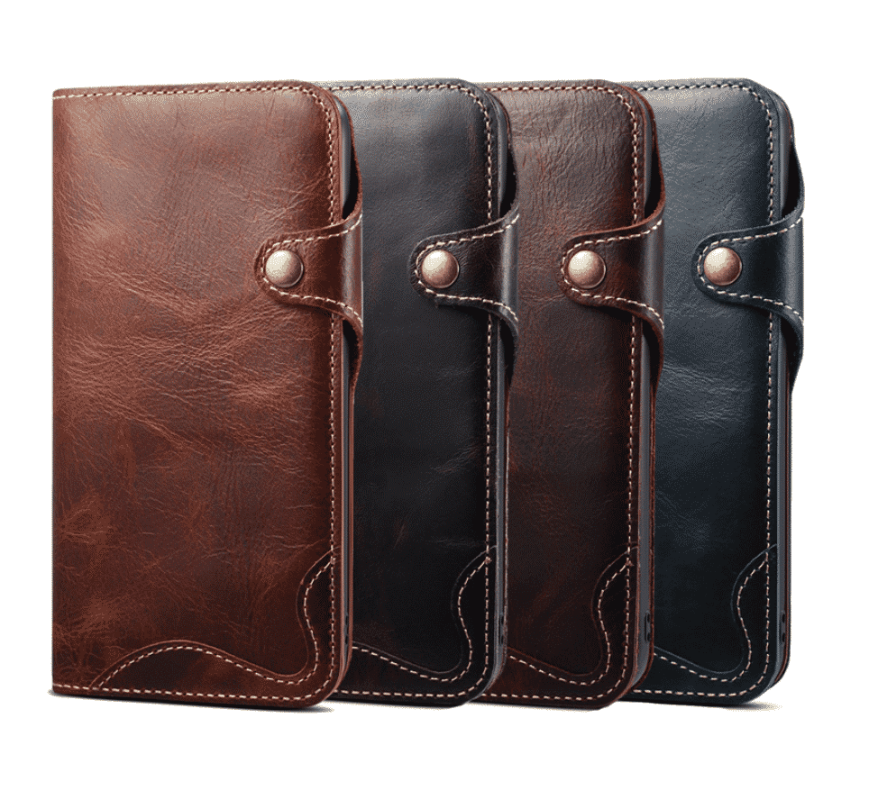 Durable Genuine Leather Wallet Case for iPhone 11 Pro