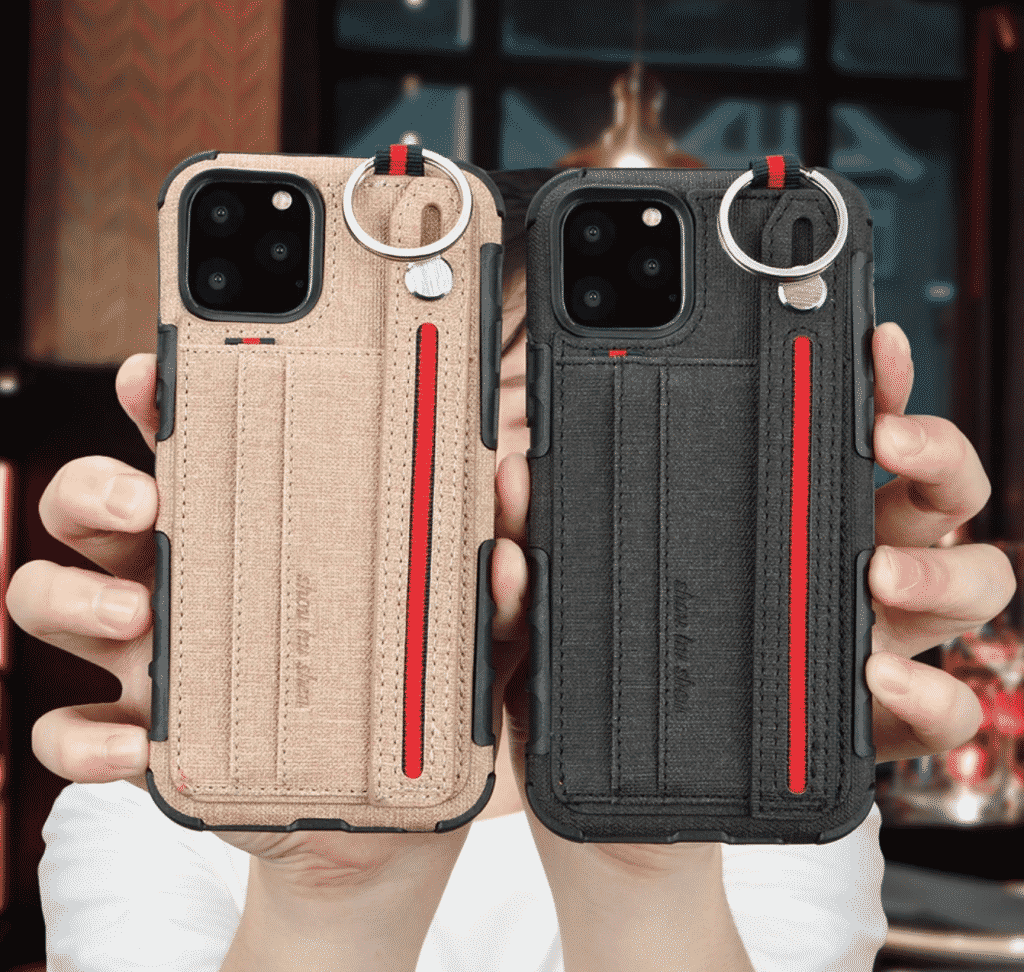 Fabric Cloth Card Holder Case for iPhone 11