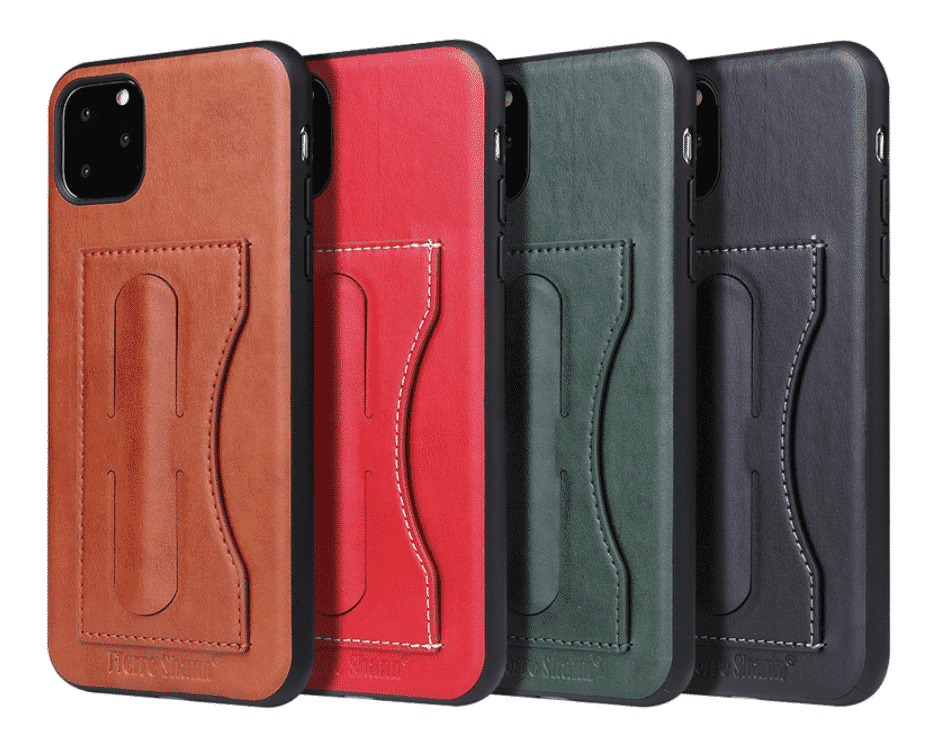 Fashion Faux Leather Card Holder Case for iPhone 11