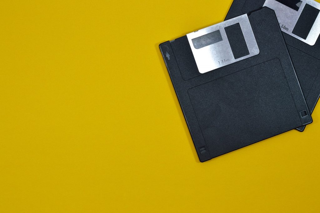 Floppy disks big and small