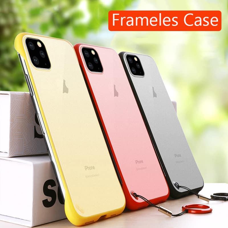 Frameless Slim Matte Hard Back Cases for iPhone 11