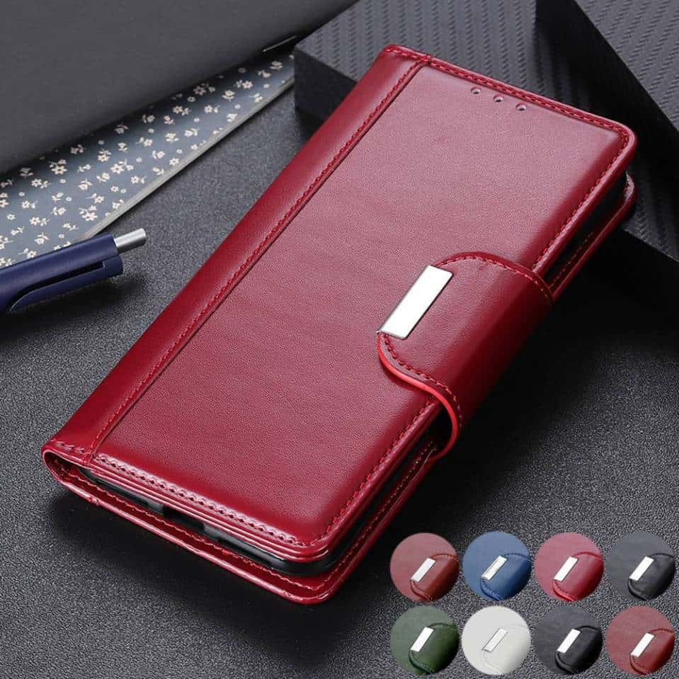 Full Body Business Magnetic Leather Wallet Case for iPhone 11, iPhone 11 Pro and iPhone 11 Pro Max