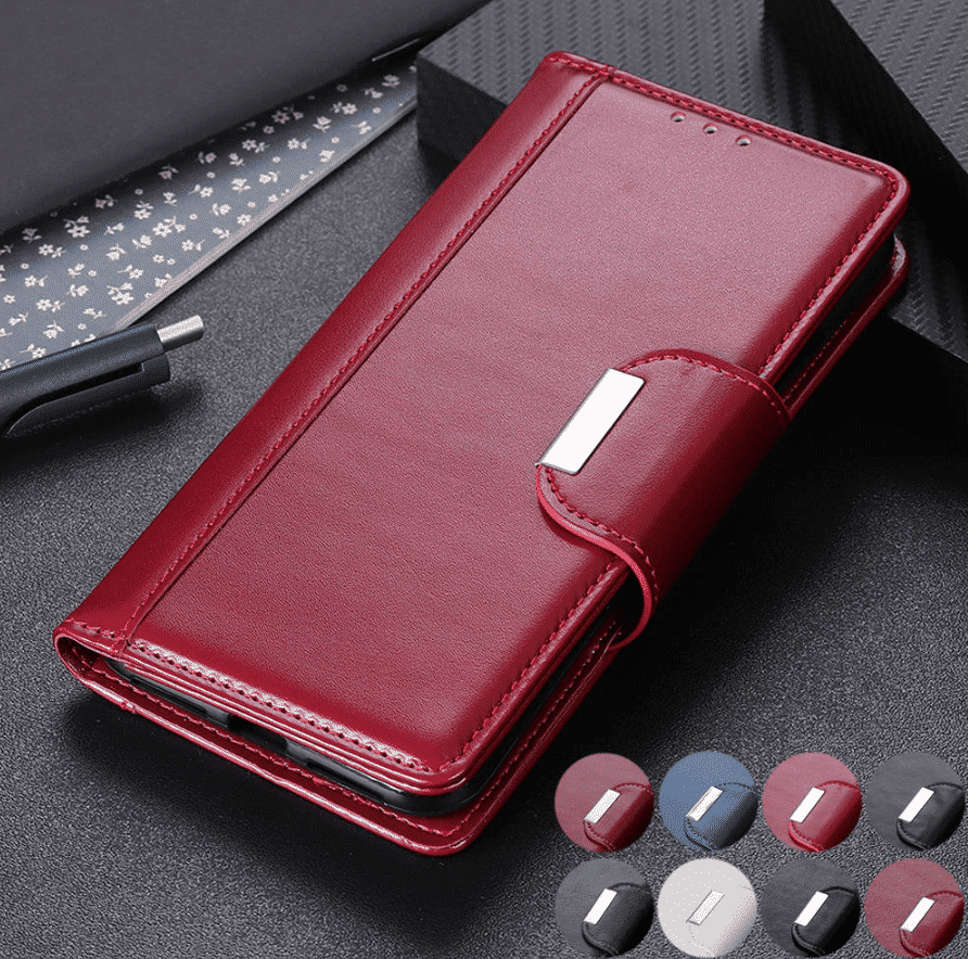 Full Body Business Magnetic Leather Wallet Case for iPhone 11 Pro Max