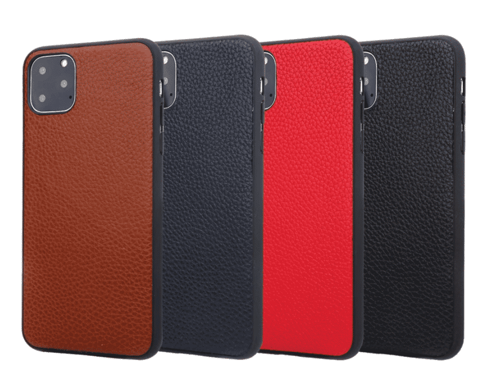 Genuine Leather Soft TPU Case for iPhone 11 Pro