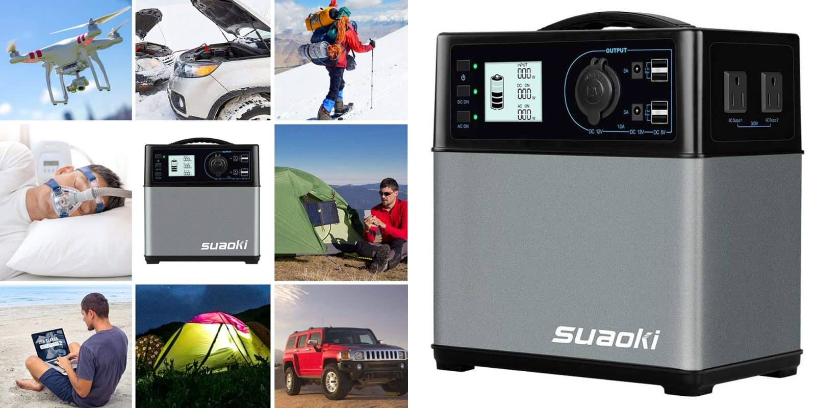 Get Power Even While Off The Grid with a Discounted SUAOKI Power Station