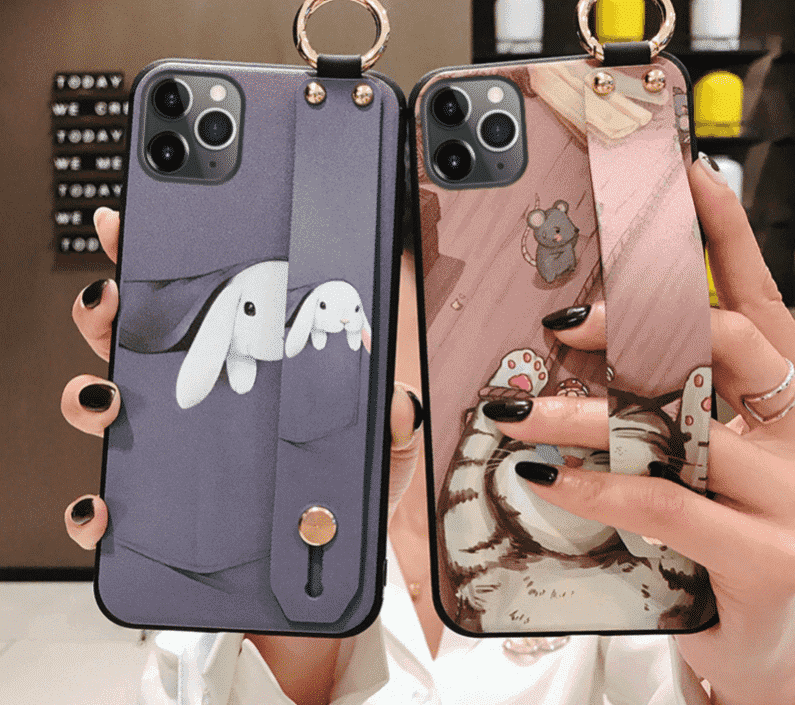 Girls Fashion Case with Wrist Strap for iPhone 11, iPhone 11 Pro and iPhone 11 Pro Max