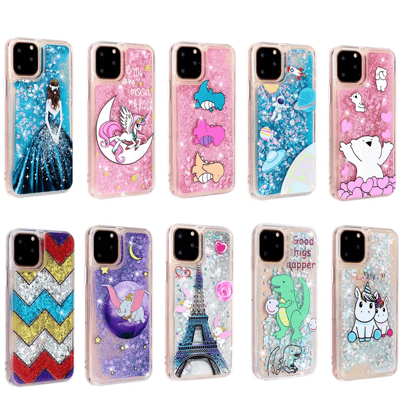 Girls Glitter Star Case for iPhone 11, iPhone 11 Pro and iPhone 11 Pro Max