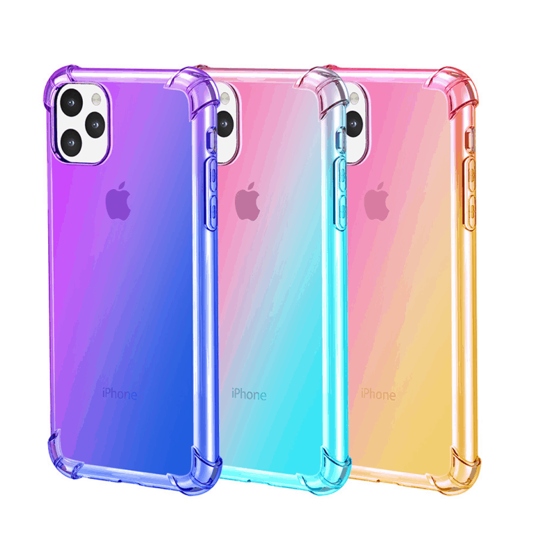 Gradient Clear Silicone Case for iPhone 11, iPhone 11 Pro and iPhone 11 Pro Max