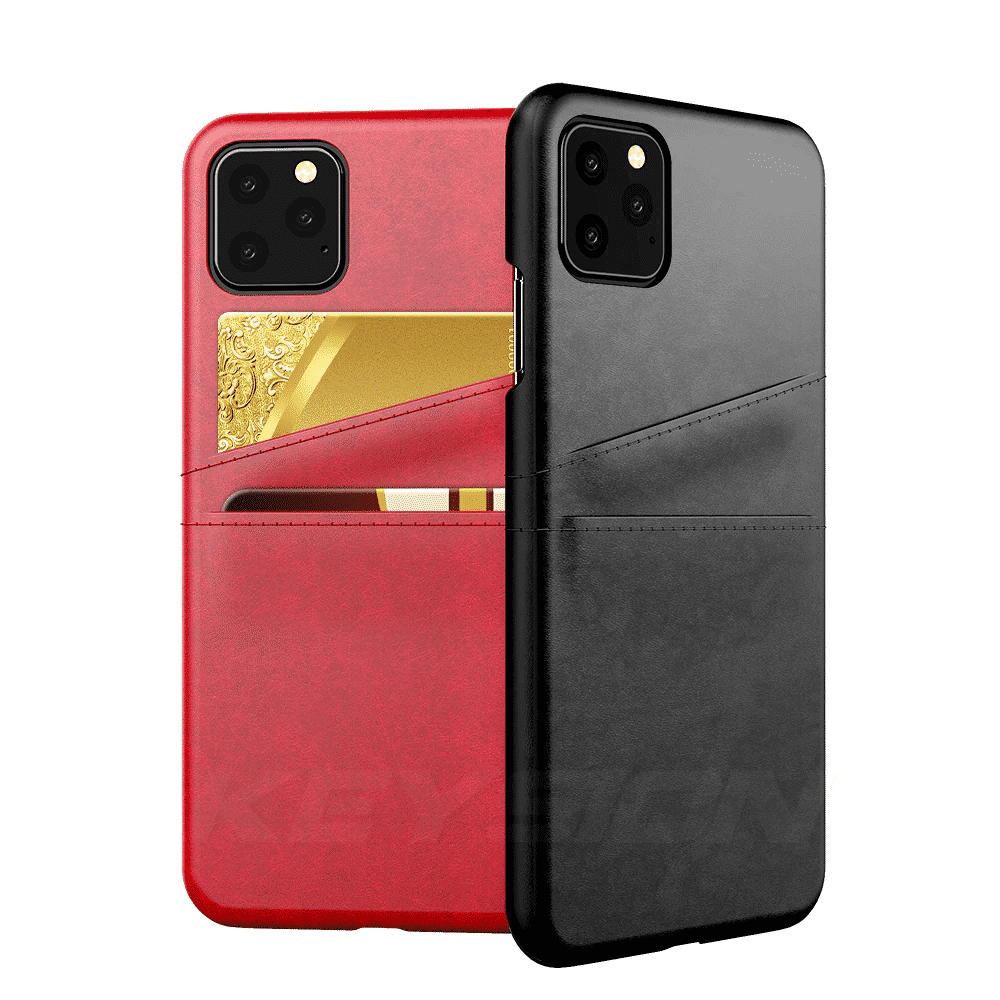 KEYSION Leather Card Pocket Cases for iPhone 11