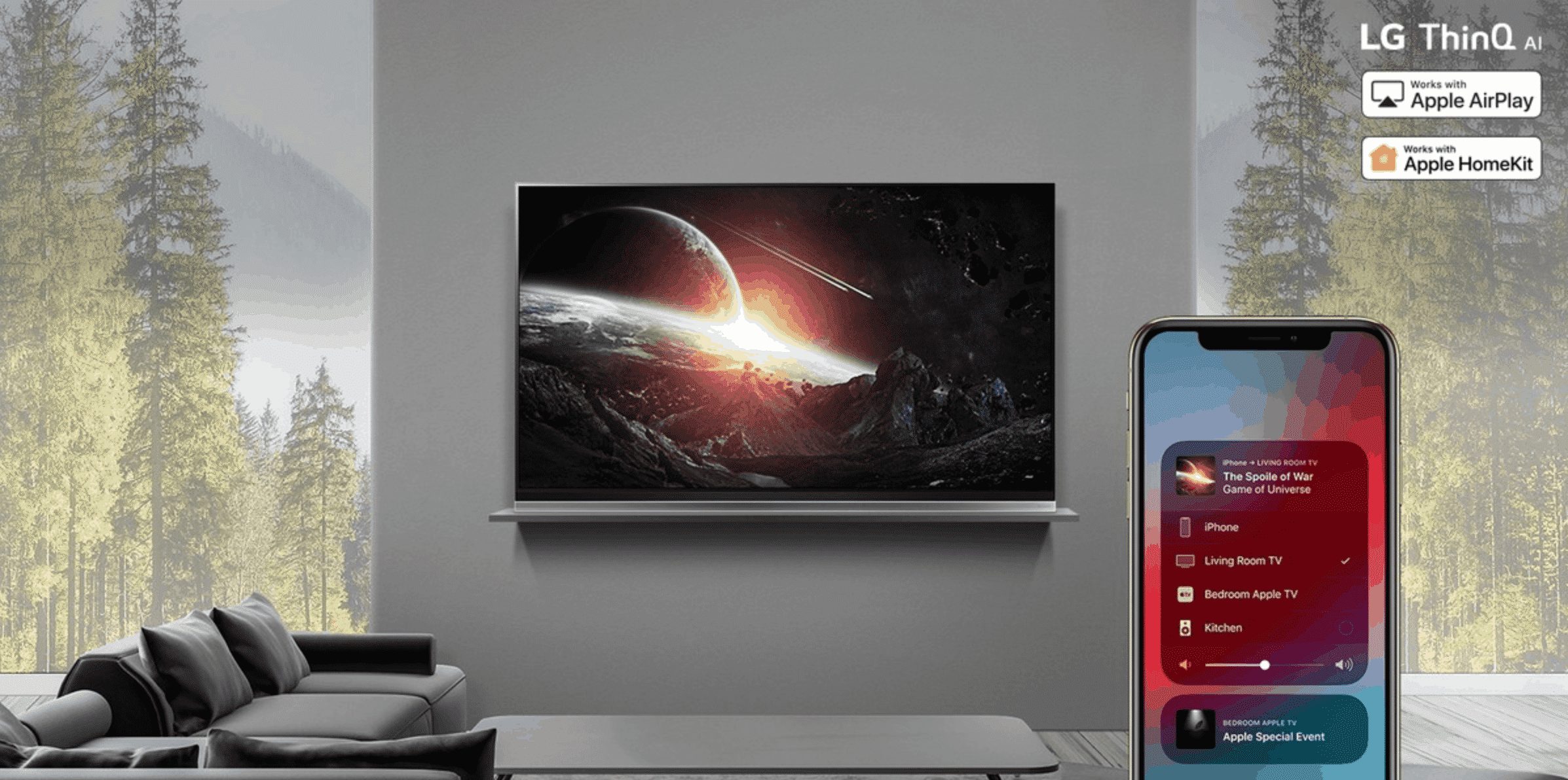 LG's UM7X TV Lineup HomeKit AirPlay 2