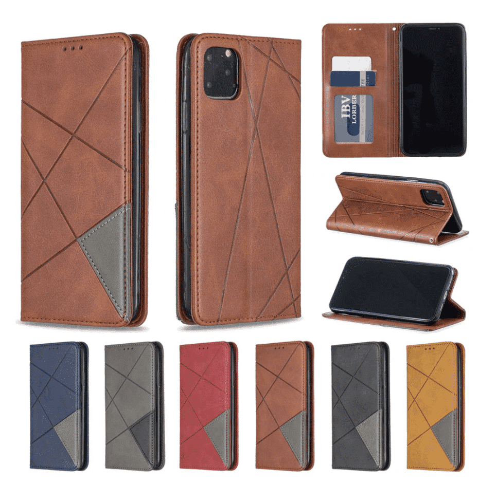 Luxury Flip Leather Wallet Case for iPhone 11 Pro Max