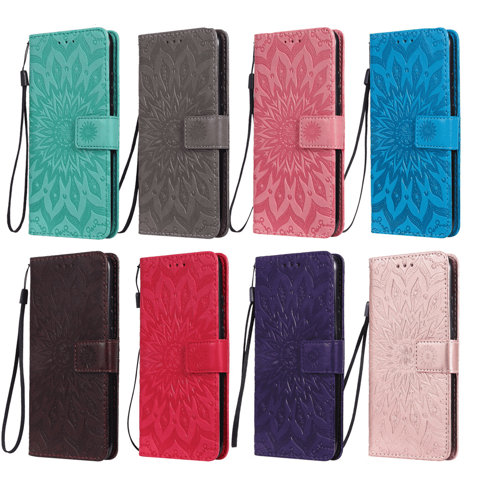 Luxury Flower Wallet Flip Case for iPhone 11, iPhone 11 Pro and iPhone 11 Pro Max