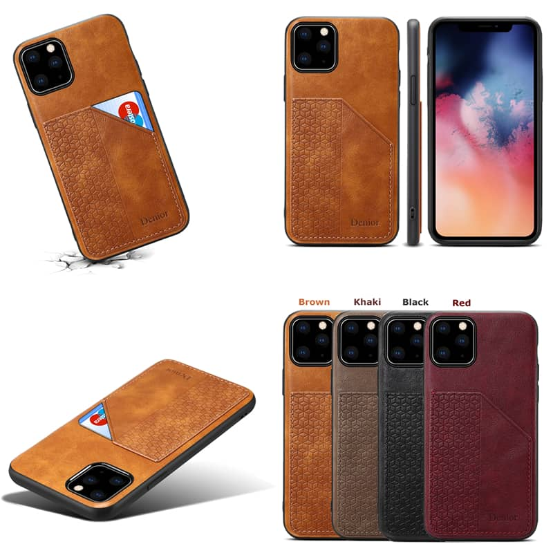 Luxury Leather Card Holder Case for iPhone 11