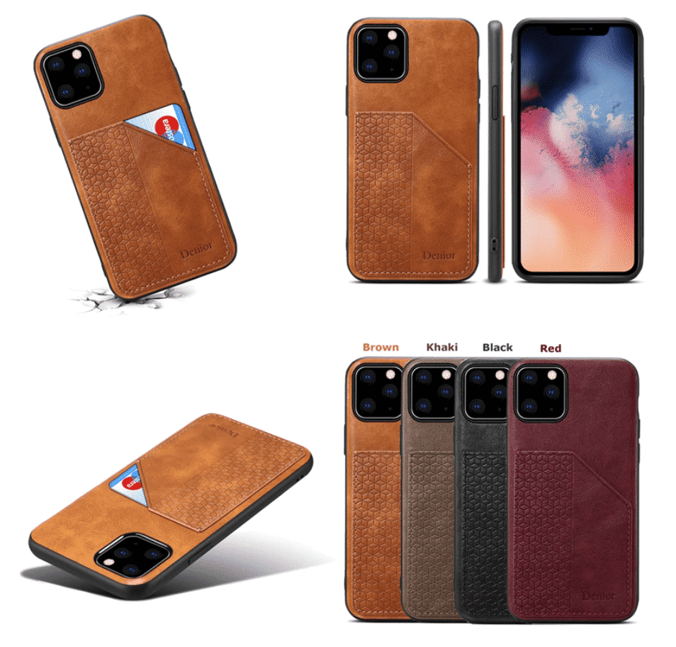 Luxury Leather with Card Holder Case for iPhone 11 Pro