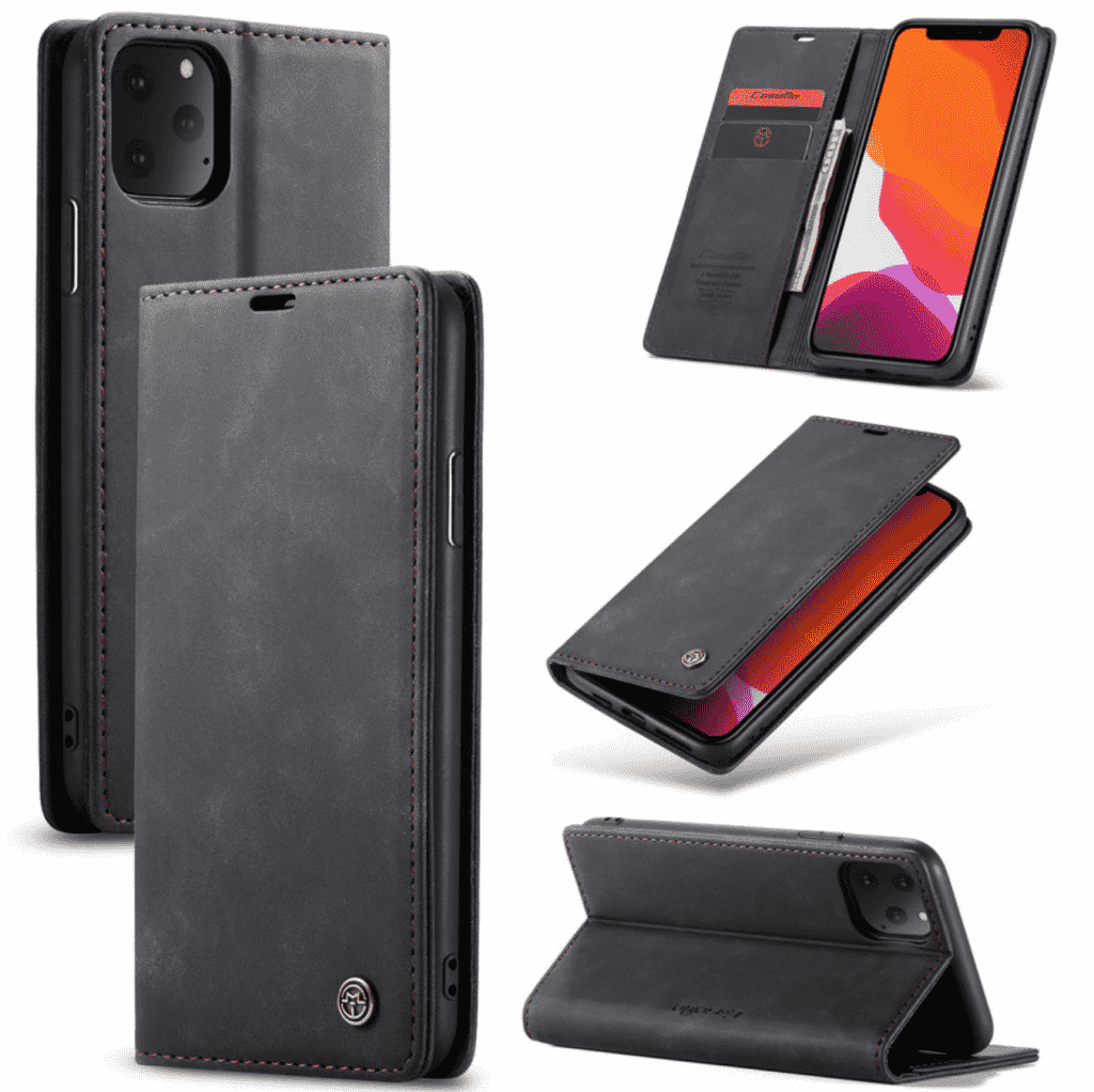 Magnetic Leather Card Wallet Case for iPhone 11 Pro
