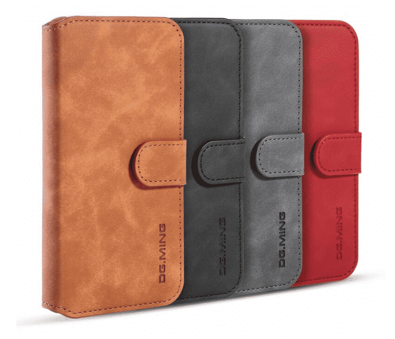 Premium Leather Flip Wallet Case for iPhone 11, iPhone 11 Pro and iPhone 11 Pro Max