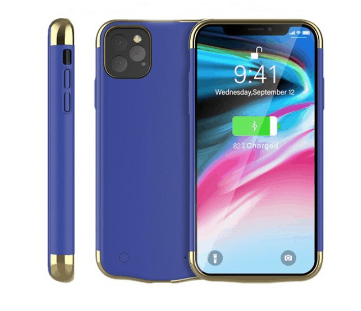Blue color battery case for iPhone 11 pro max