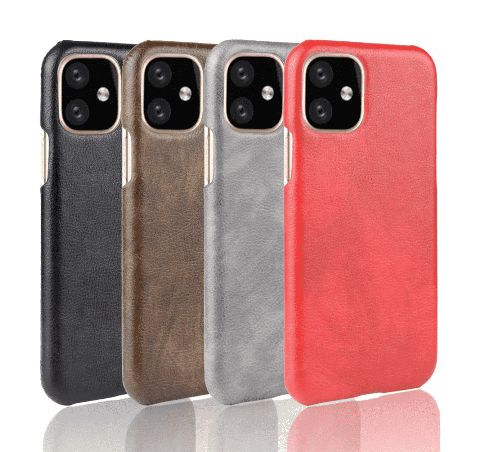 ShockProof Hard Back Leather Case for iPhone 11 Pro
