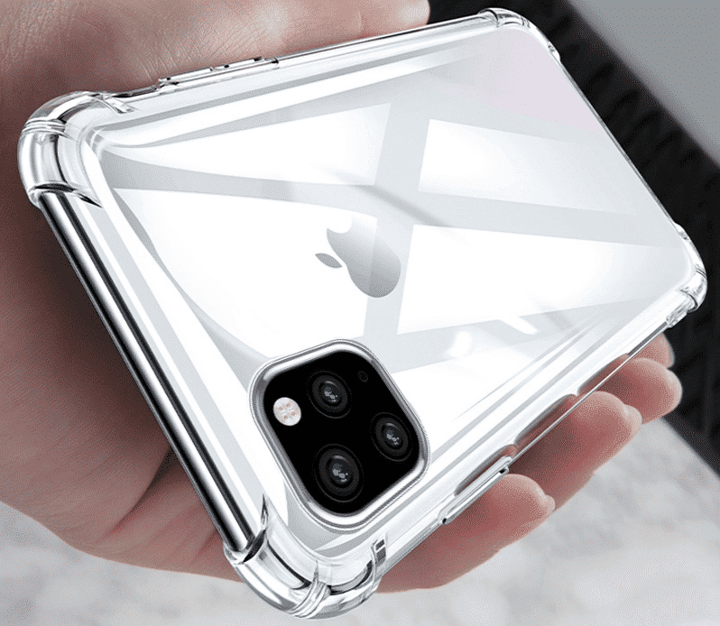 Shockproof Bumper Clear Silicone Case for iPhone 11, iPhone 11 Pro and iPhone 11 Pro Max
