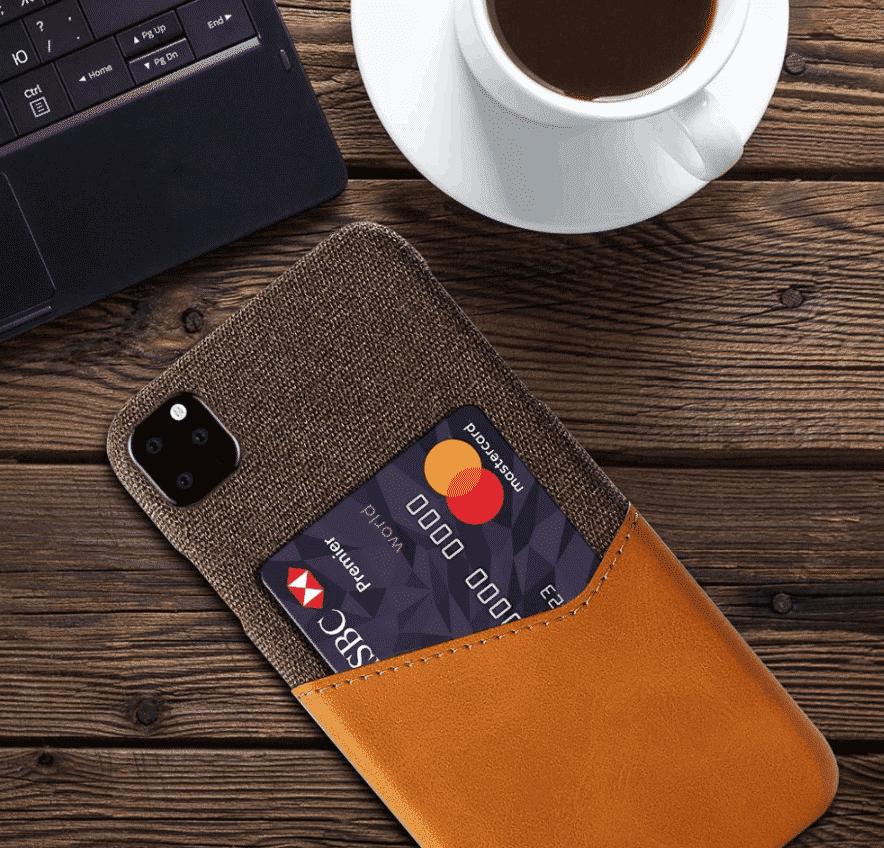 Shockproof Leather Card Holder Case for iPhone 11