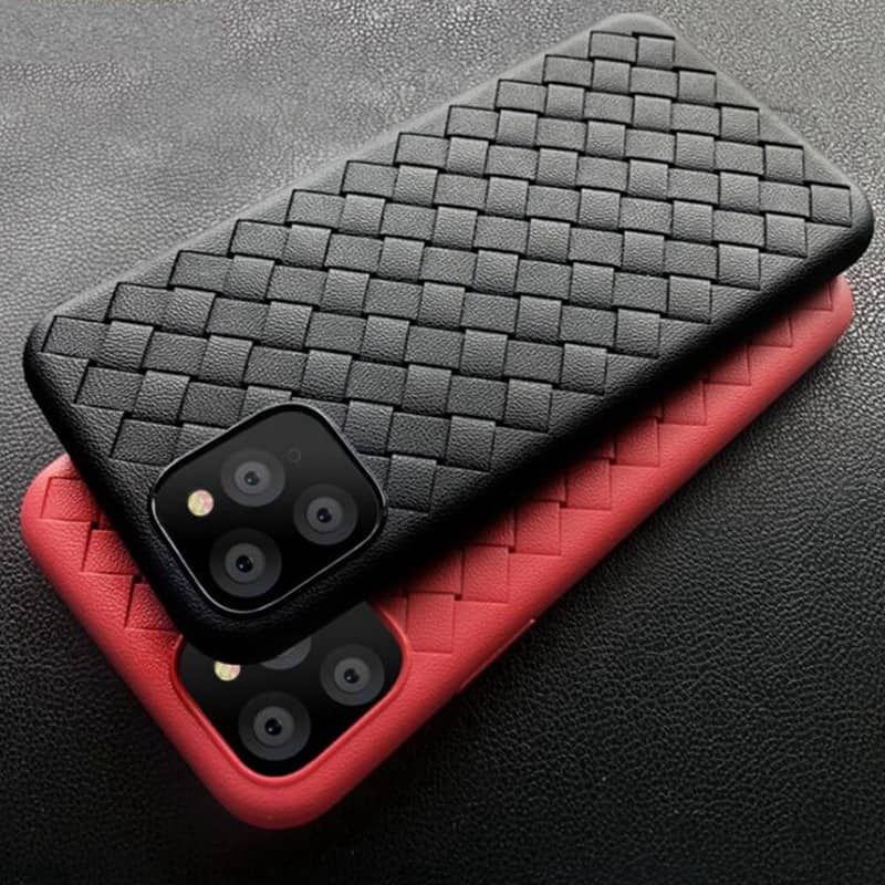 Weave Leather Pattern TPU Cases for iPhone 11